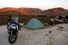 Levé de soleil sur Sierra del Cabo, Rodalquilar, Andalousie