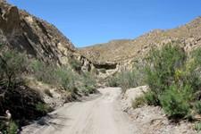 Canyon de Tabernas, 5 km au sud de Tabernas, Andalousie