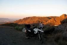 Levé de soleil au dessus de Huebro, Andalousie
