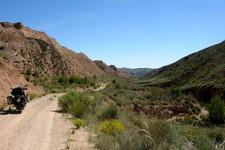 A l'intérieur du désert de Gorafe, Andalousie