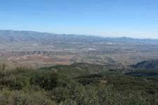 Vue vers la Sierra de los Filabres à partir de la Sierra Alhamilla, Andalousie
