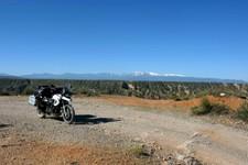 Entrée (par le sud) dans le désert de Gorafe, Andalousie