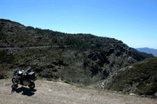 Piste Sierra Nevada, nord de Yegen, Andalousie