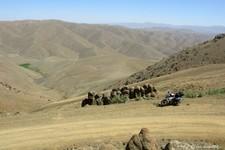 Passage d'un col à 2790m, au dessus de Koçbasi, avec au loin, la frontière iranienne (Turquie)