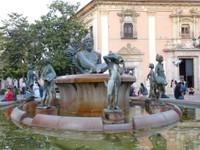 Fontaine Neptune Place de la Vierge VALENCIA