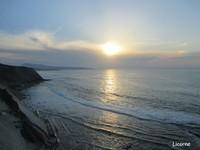 coucher de soleil sur st jean de luz