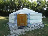 Yourte camping Causses et Lamas