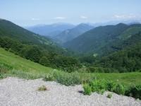 La vallée depuis le col de la Core