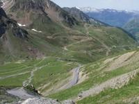 La montée vue du Tourmalet
