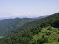 La chaîne des Pyrénées depuis le col de la Core