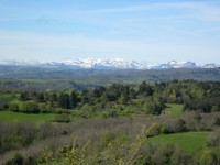 Vue massif du Sancy du plateau de Gergovie