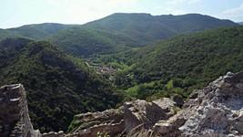 Le village de Termes depuis le château.