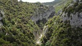 Vue des gorges depuis l'ermitage de St-Antoine de Galamus.