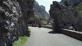 L'entrée nord des gorges de Galamus.