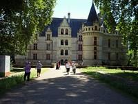 L'entrée du château d'Azay-le-Rideau.