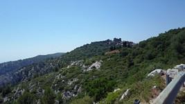 Evenos depuis la D62 en direction de Toulon