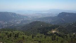 La rade de Toulon depuis le mont Caume