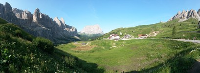 Dolomite mountains at Passo di Gardena