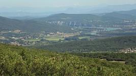 Vallée du Rhône depuis la D4 au-dessus de Bourg-St-Andéol