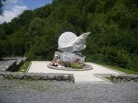 La stèle en mémoire de Fabio Casartelli