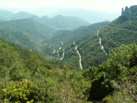 Col du Rousset. Vue sur la route et la vallée