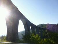 Le viaduc de Recoumène avant Le-Monastier-sur-Gazeille