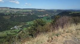 Vue depuis le Rocher de l'Aigle sur la D36