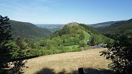 La roche Vendeix depuis la D88