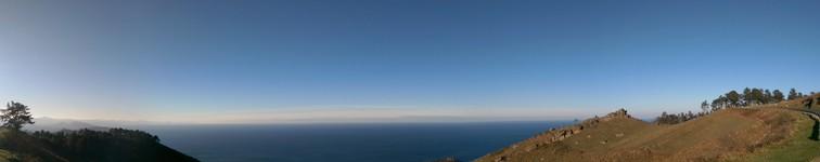 Panorama océan depuis corniche