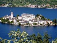point d'arrivée, Lac d'Orta et l'isola di san Gulio...