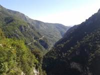 Vue sur la vallée de la Vésubie