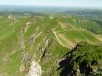 vue au sommet de Puy de Sancy