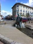 statue qui joint l'avenue de la mer à l'océan