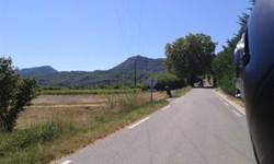 Sur la route du coté de Ponteves