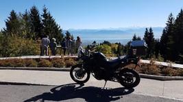 Au col de la Faucille, vue sur le Mont Blanc