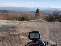 la vue sur le Mont Blanc depuis le Refuge de Florimont