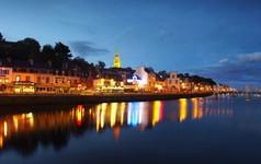 Binic Port tombée de Nuit