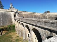 l'entrée de la citadelle de Blaye