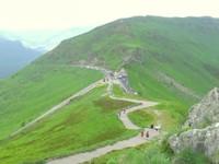 Vue à mi-chemin de la montée vers le Puy Mary