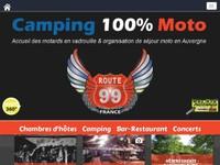 Départ du Camping Moto Route 99