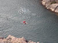 Un homme à la mer... non dans l'Hérault... un 9 décembre... Brrr!!!
