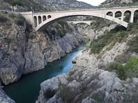 Les gorges de l'Hérault depuis le Pont du Diable