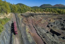 Le train dans la mine