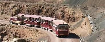 la  visite en train de la mine