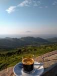 Un café de bon matin, en face de l'Afrique...