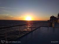 Coucher de Soleil sur le Ferries du Retour