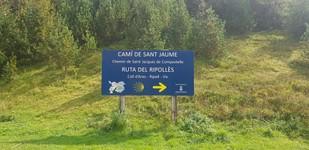Passage de la frontière espagnole au col d'Ares
