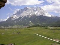 Vue sur la Zugspitze