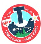 Col du Rombo - Timmelsjoch autocollant